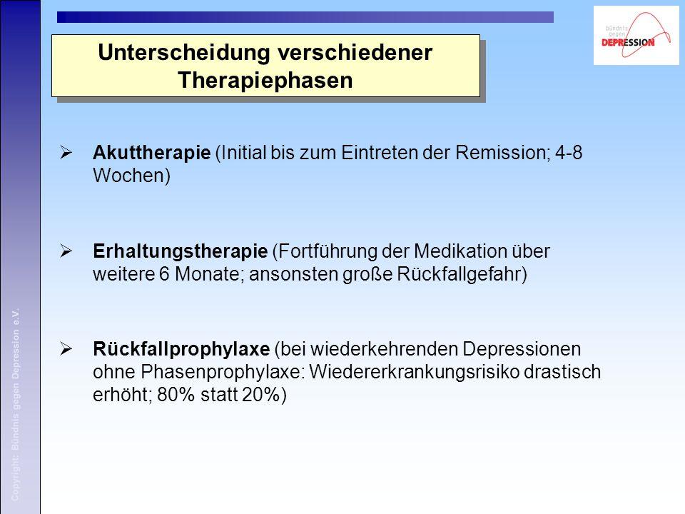 Unterscheidung verschiedener Therapiephasen