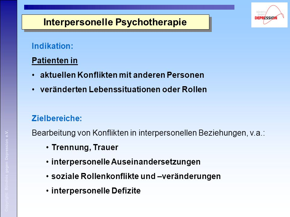 Interpersonelle Psychotherapie