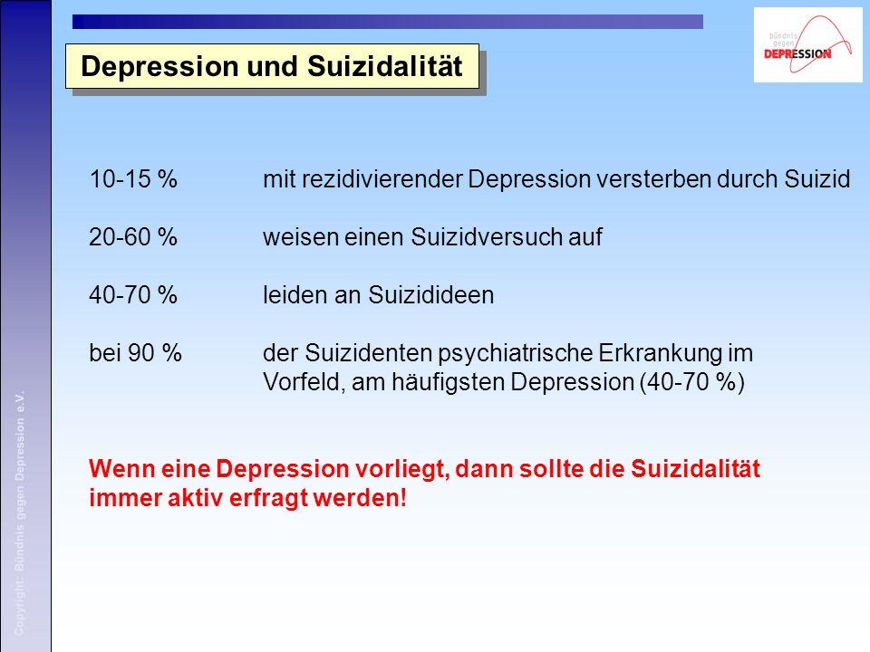 Depression und Suizidalität