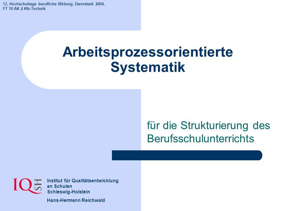 Arbeitsprozessorientierte Systematik