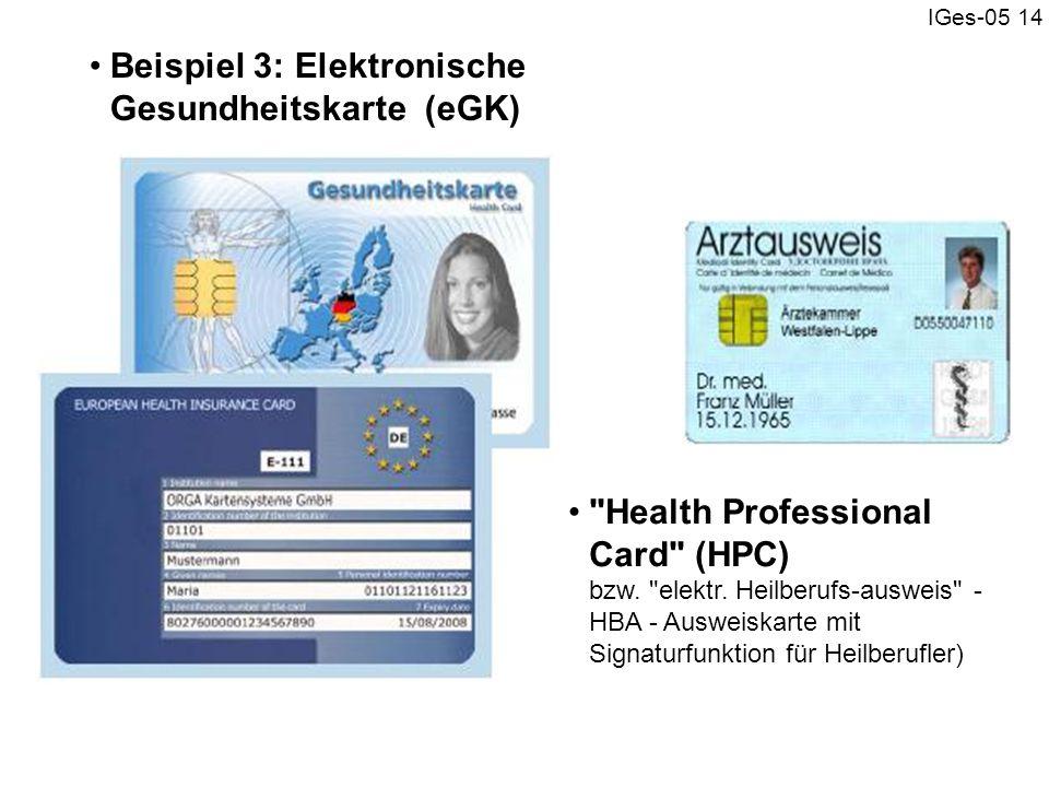 Beispiel 3: Elektronische Gesundheitskarte (eGK)
