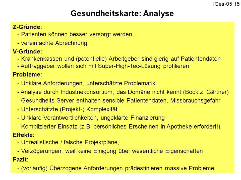 Gesundheitskarte: Analyse