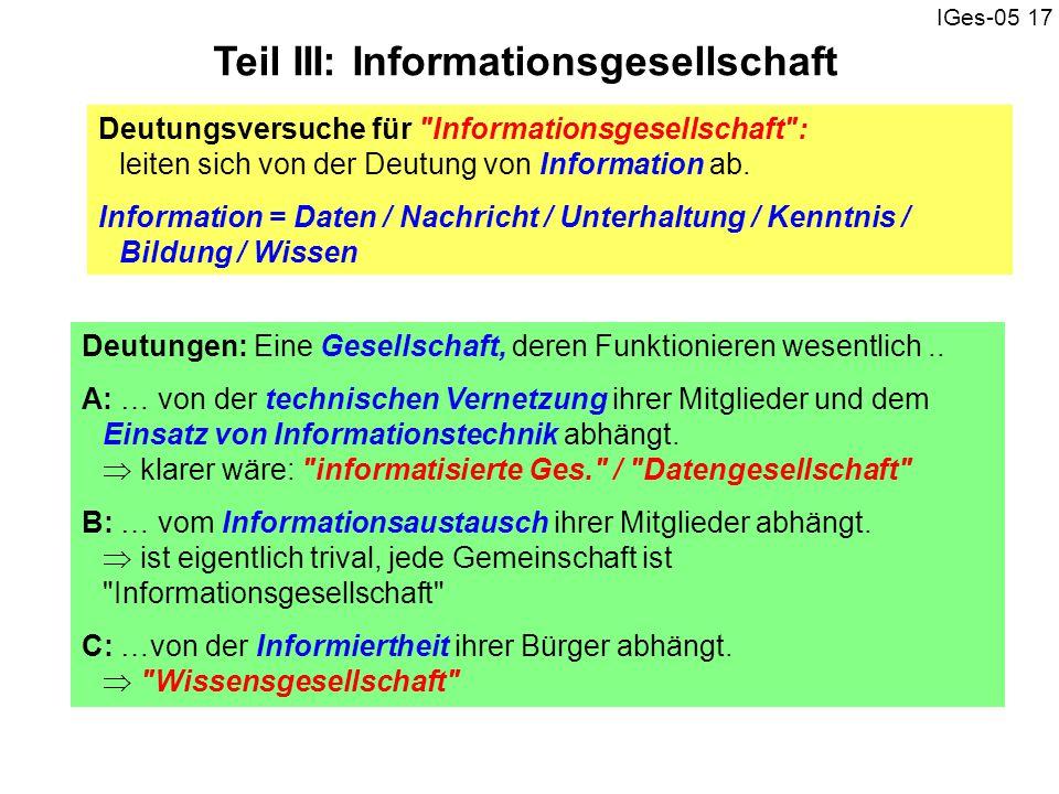Teil III: Informationsgesellschaft