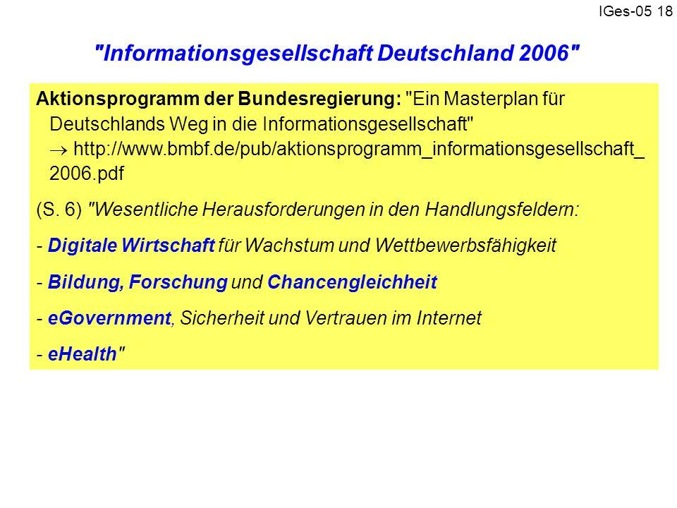Informationsgesellschaft Deutschland 2006