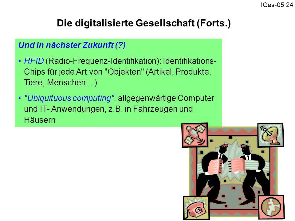 Die digitalisierte Gesellschaft (Forts.)