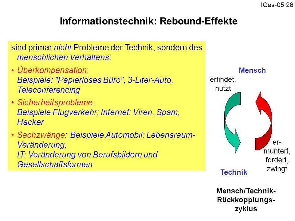 Informationstechnik: Rebound-Effekte