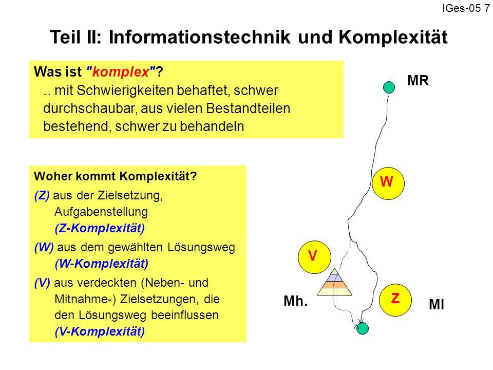 Teil II: Informationstechnik und Komplexität