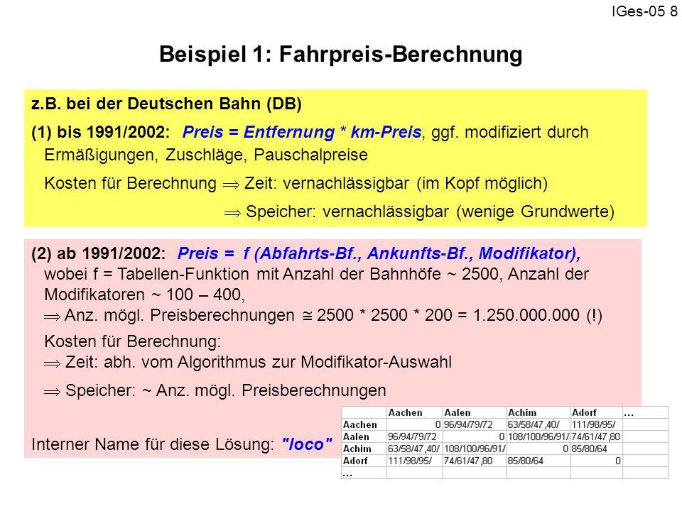 Beispiel 1: Fahrpreis-Berechnung
