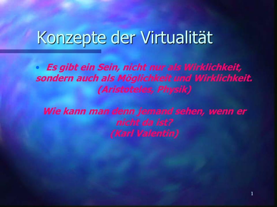Konzepte der Virtualität