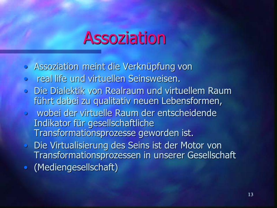 Assoziation Assoziation meint die Verknüpfung von