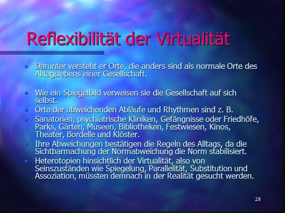Reflexibilität der Virtualität