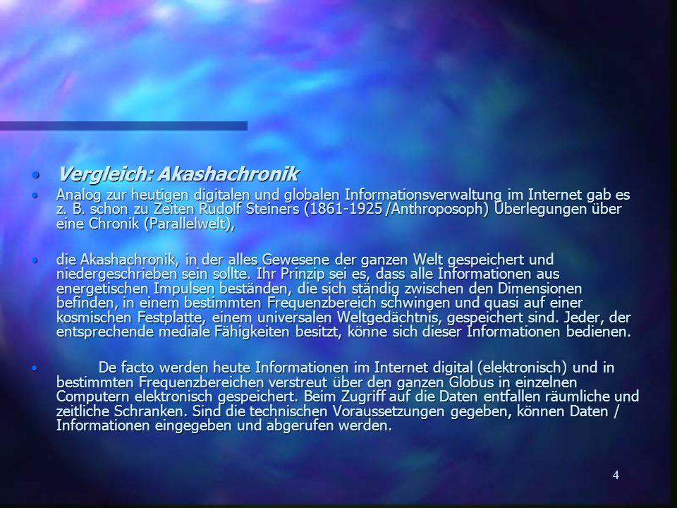 Vergleich: Akashachronik