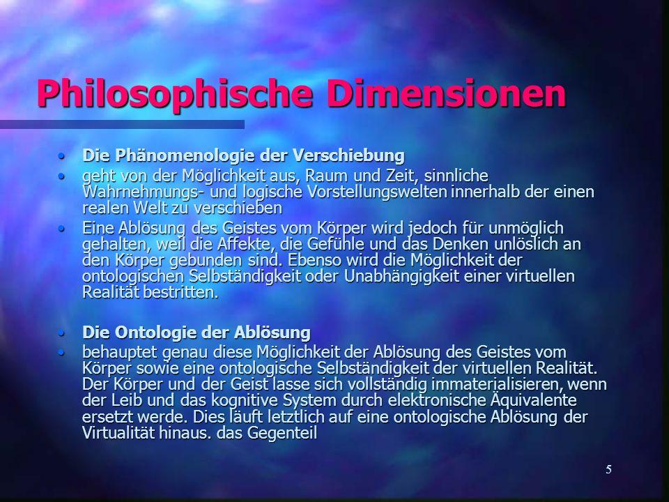 Philosophische Dimensionen