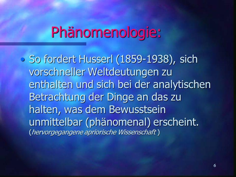 Phänomenologie:
