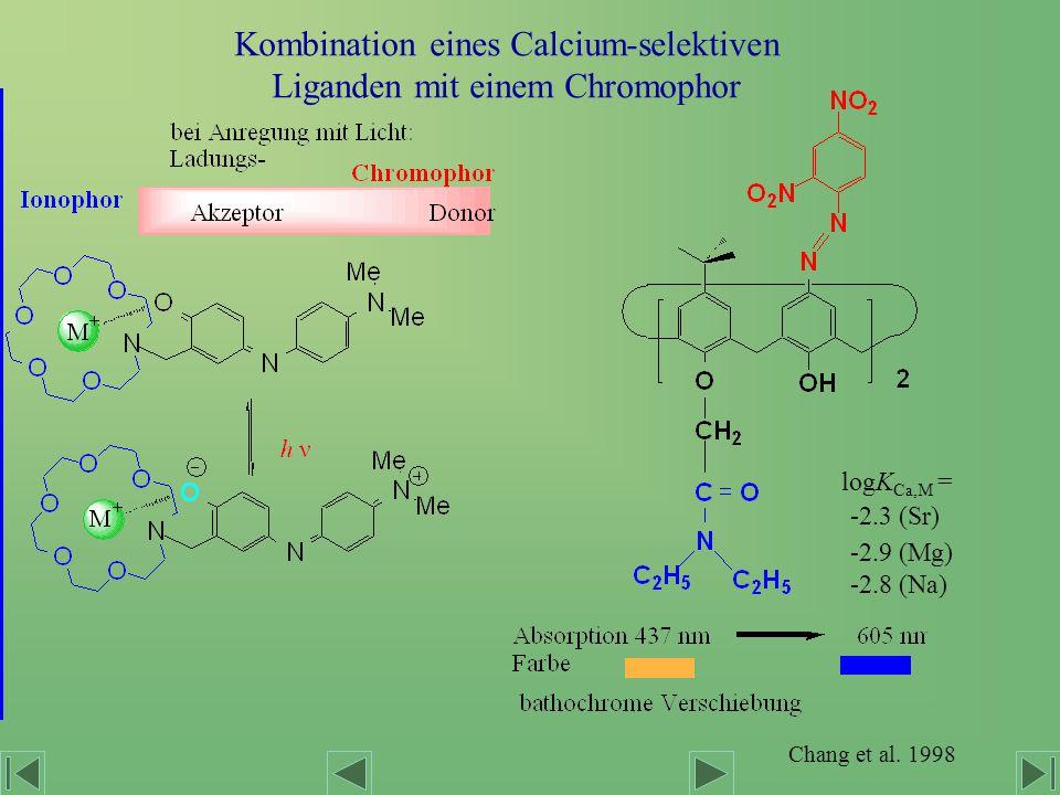 Kombination eines Calcium-selektiven Liganden mit einem Chromophor