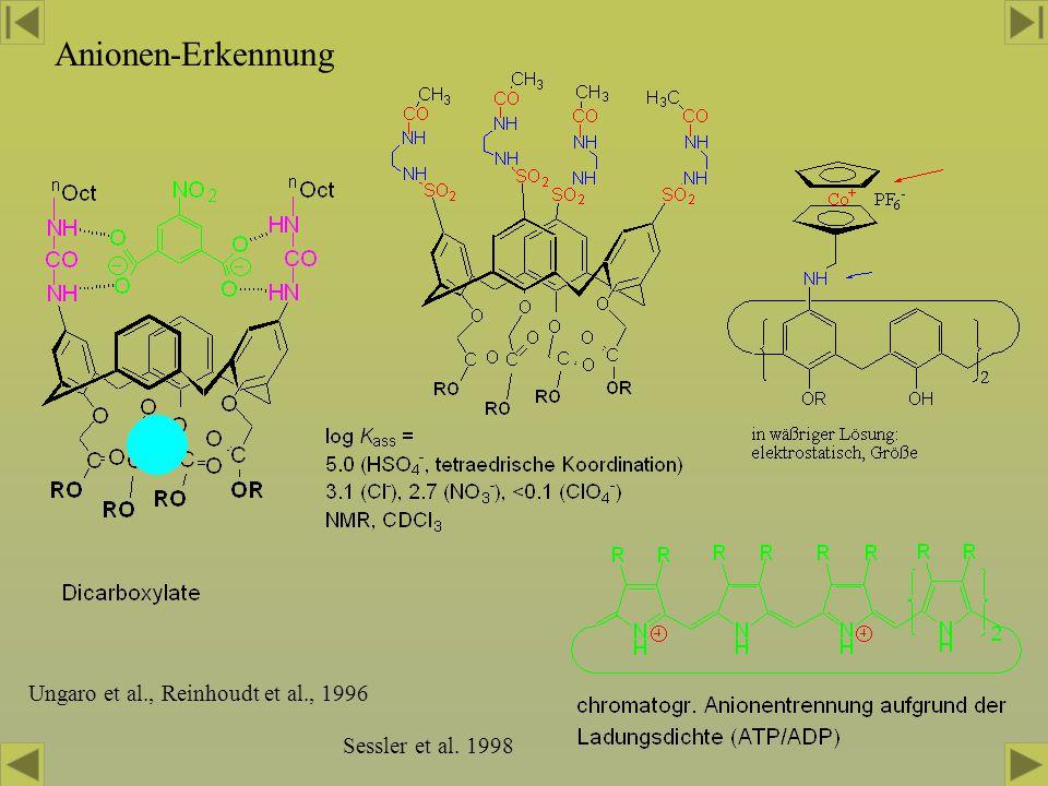 Anionen-Erkennung Ungaro et al., Reinhoudt et al., 1996