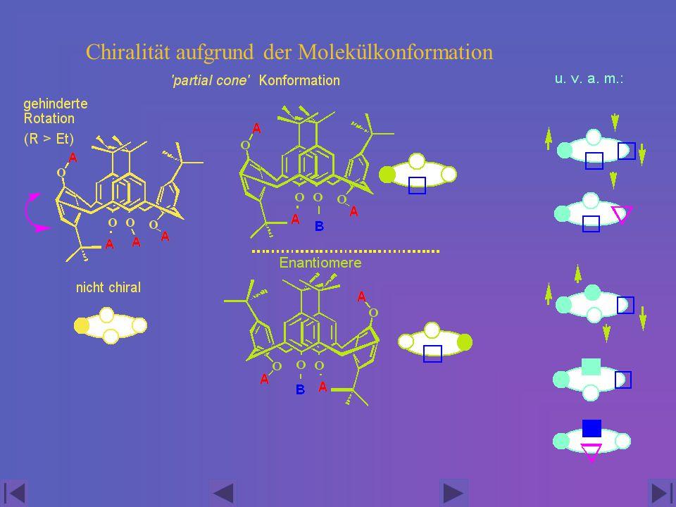 Chiralität aufgrund der Molekülkonformation