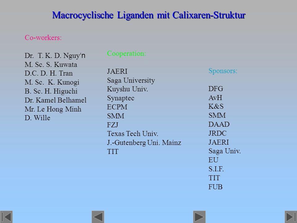 Macrocyclische Liganden mit Calixaren-Struktur