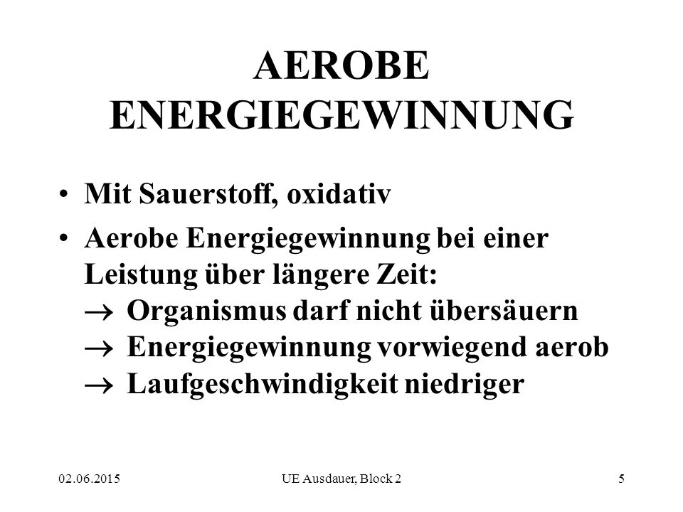 AEROBE ENERGIEGEWINNUNG
