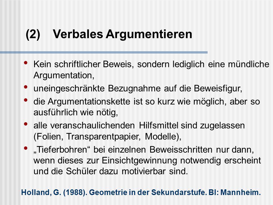 (2) Verbales Argumentieren