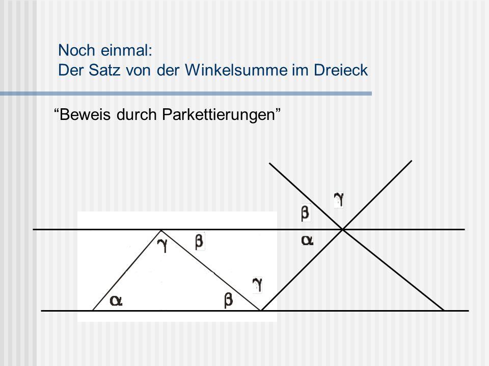 Noch einmal: Der Satz von der Winkelsumme im Dreieck