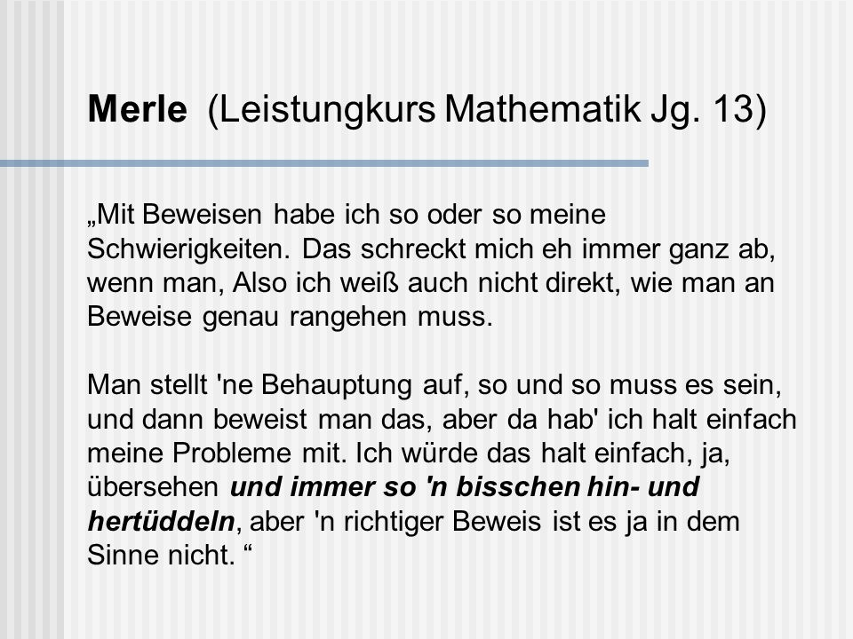 Merle (Leistungkurs Mathematik Jg. 13)