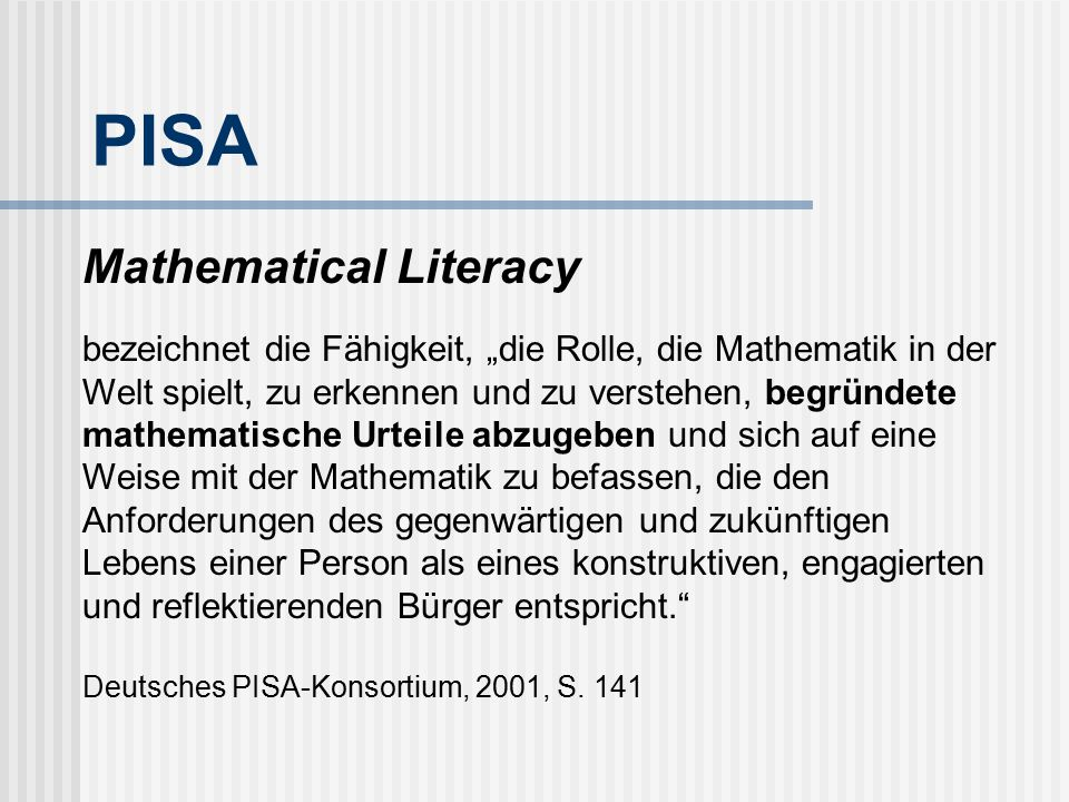 PISA Mathematical Literacy