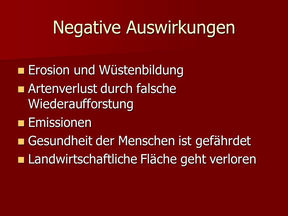 Negative Auswirkungen