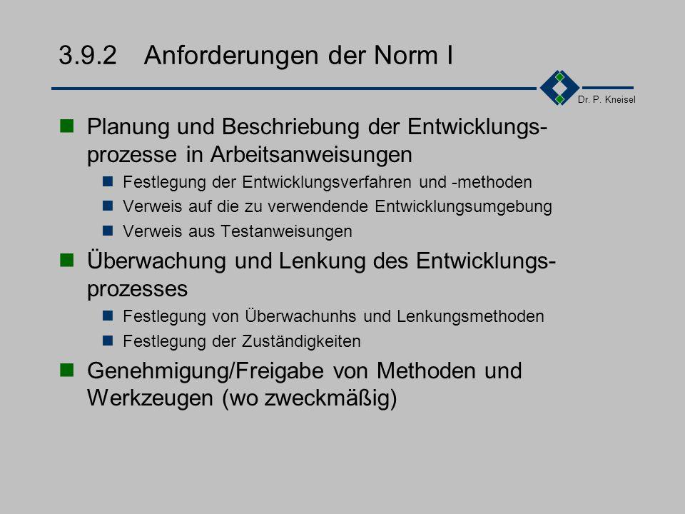3.9.2 Anforderungen der Norm I