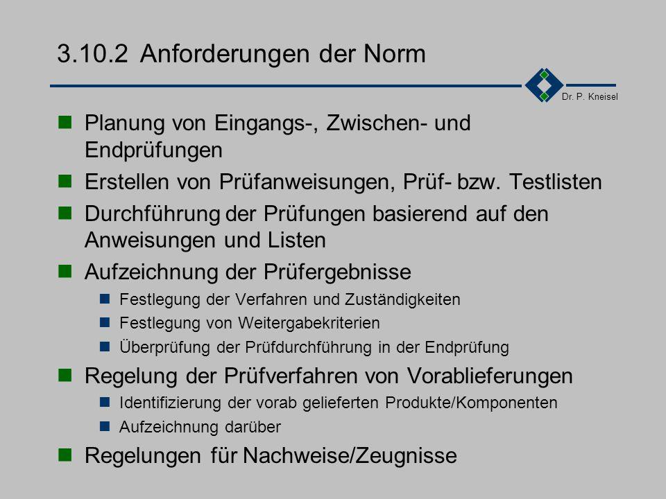 3.10.2 Anforderungen der Norm