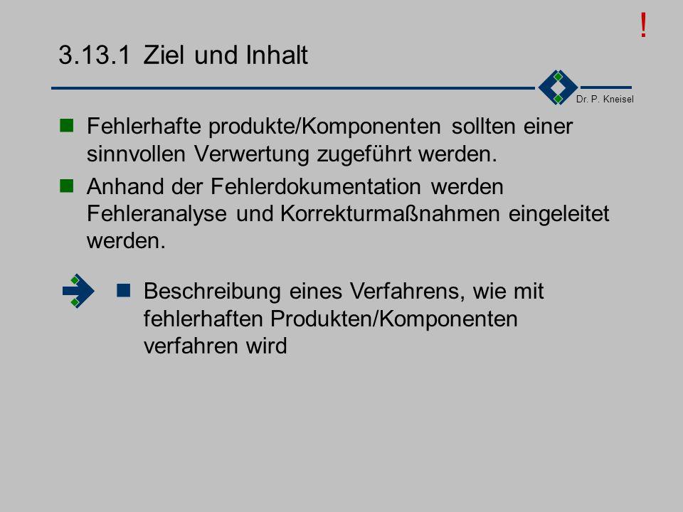 ! 3.13.1 Ziel und Inhalt. Fehlerhafte produkte/Komponenten sollten einer sinnvollen Verwertung zugeführt werden.