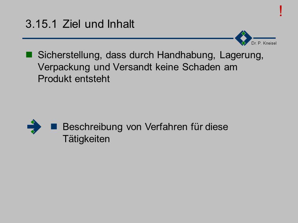 ! 3.15.1 Ziel und Inhalt. Sicherstellung, dass durch Handhabung, Lagerung, Verpackung und Versandt keine Schaden am Produkt entsteht.