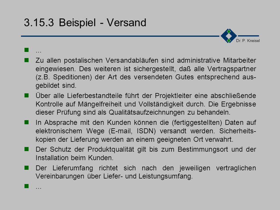 3.15.3 Beispiel - Versand ...