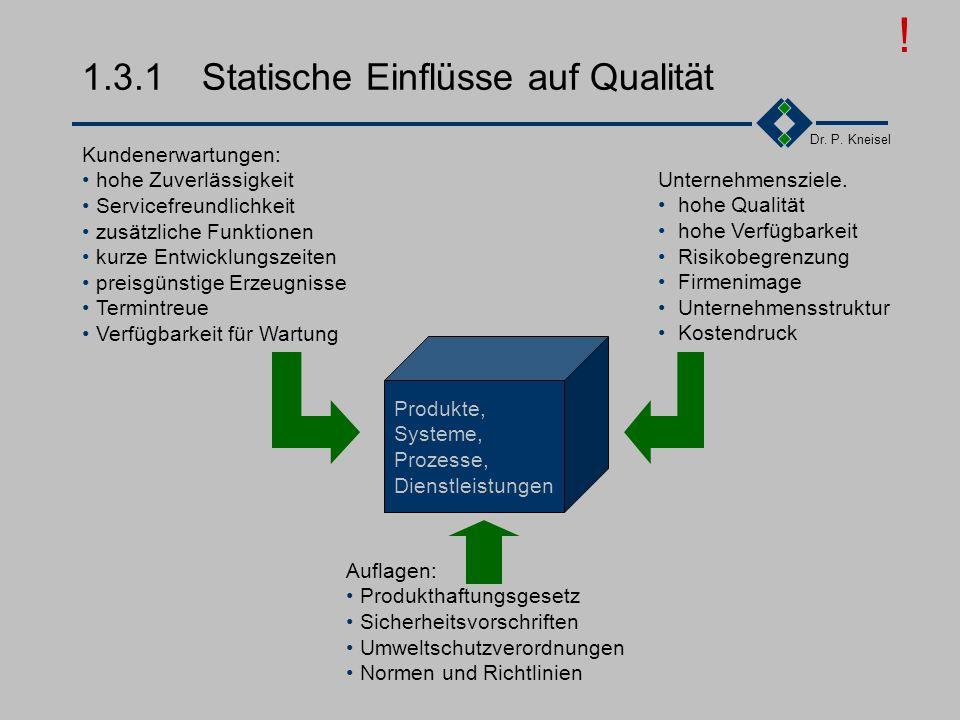1.3.1 Statische Einflüsse auf Qualität
