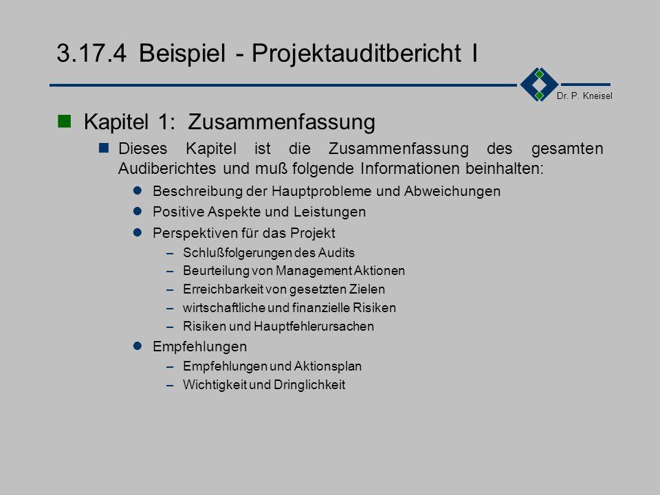 3.17.4 Beispiel - Projektauditbericht I