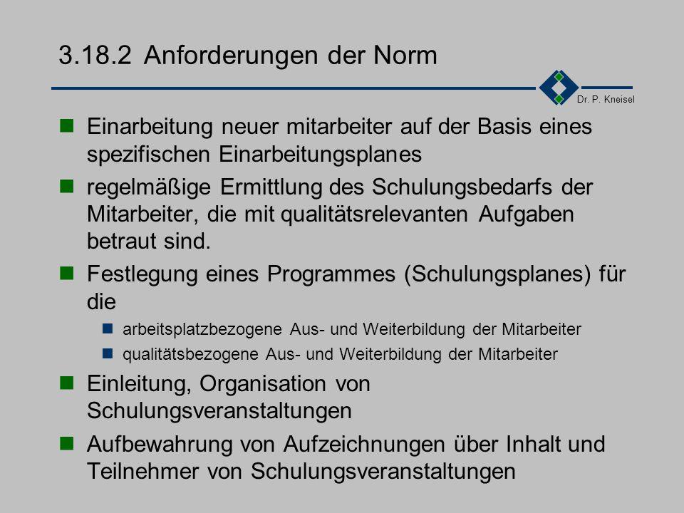 3.18.2 Anforderungen der Norm
