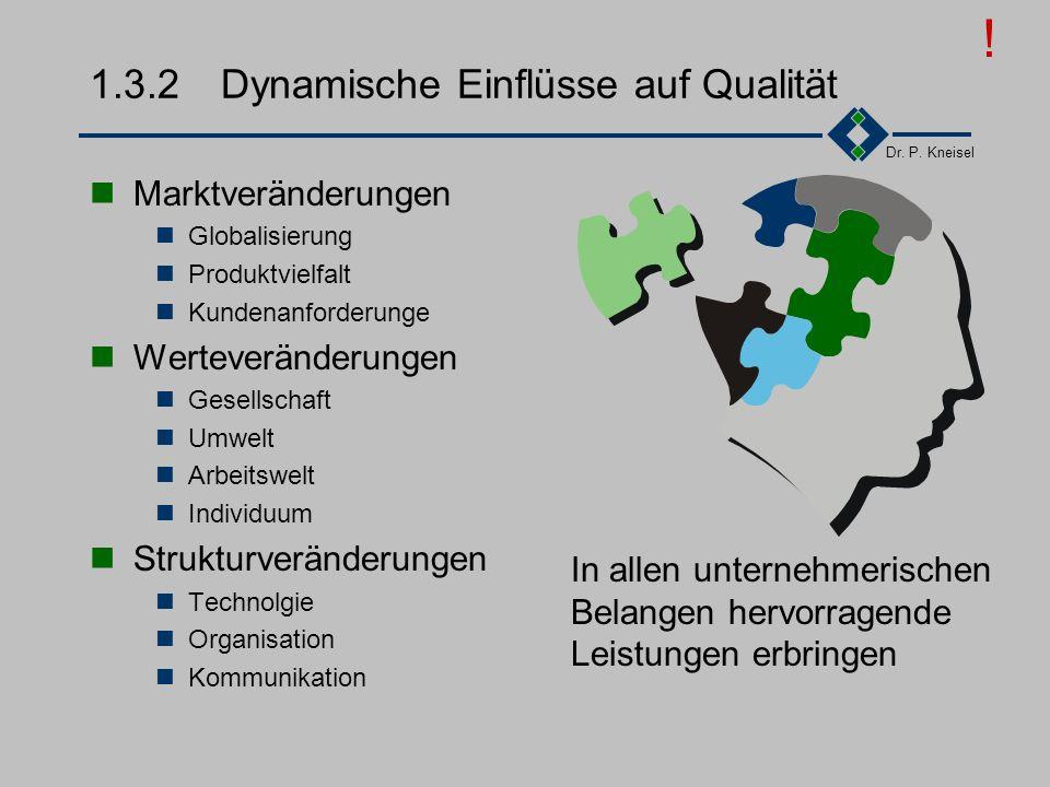 1.3.2 Dynamische Einflüsse auf Qualität
