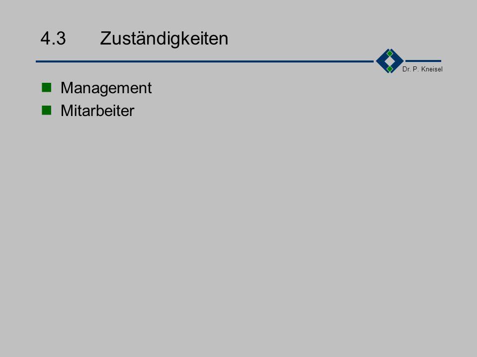 4.3 Zuständigkeiten Management Mitarbeiter