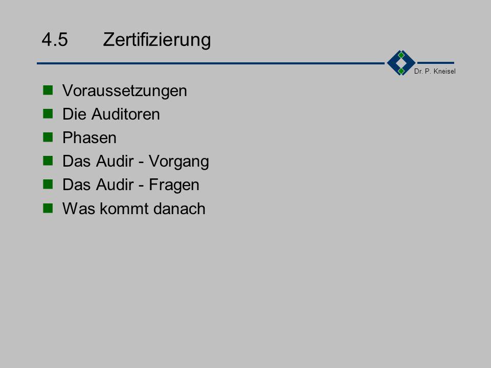 4.5 Zertifizierung Voraussetzungen Die Auditoren Phasen