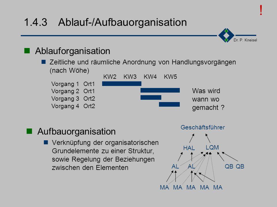 1.4.3 Ablauf-/Aufbauorganisation