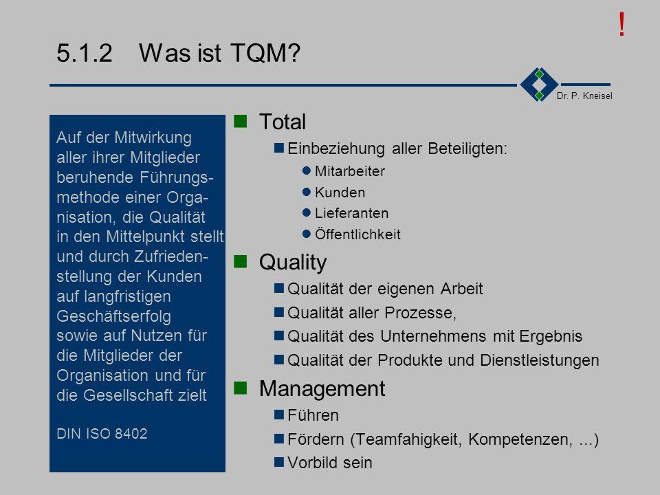 ! 5.1.2 Was ist TQM Total Quality Management Auf der Mitwirkung