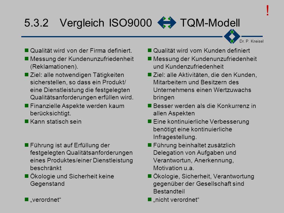 5.3.2 Vergleich ISO9000 TQM-Modell