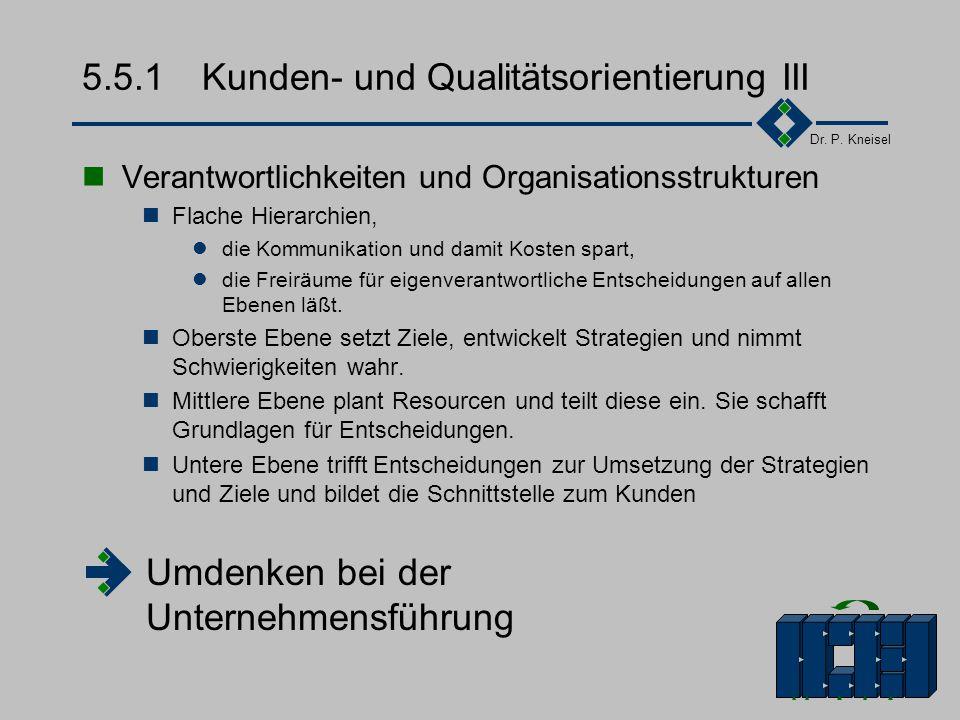 5.5.1 Kunden- und Qualitätsorientierung III
