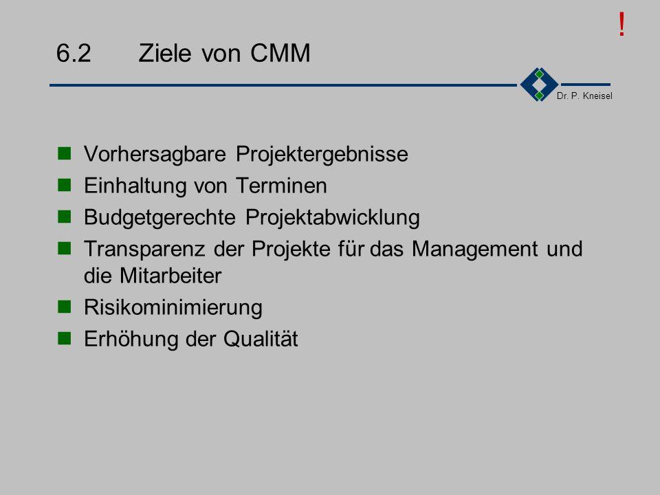 ! 6.2 Ziele von CMM Vorhersagbare Projektergebnisse