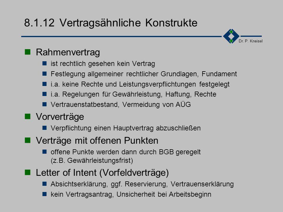 8.1.12 Vertragsähnliche Konstrukte