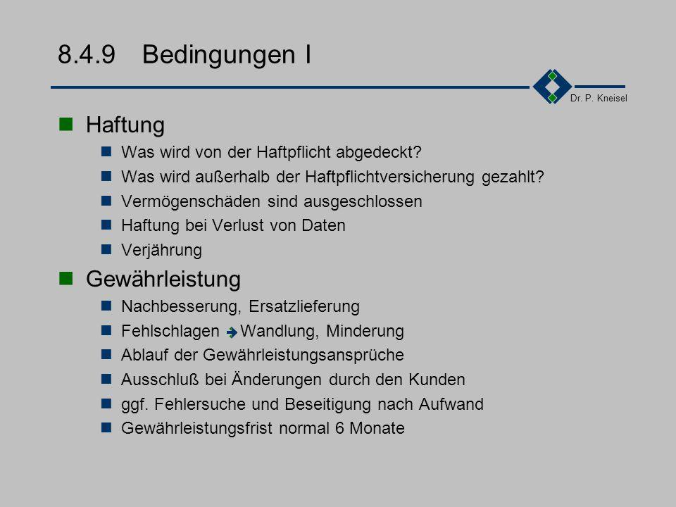 8.4.9 Bedingungen I Haftung Gewährleistung