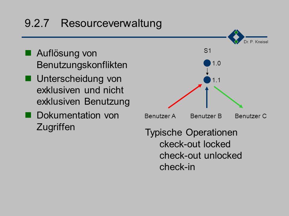 9.2.7 Resourceverwaltung Auflösung von Benutzungskonflikten