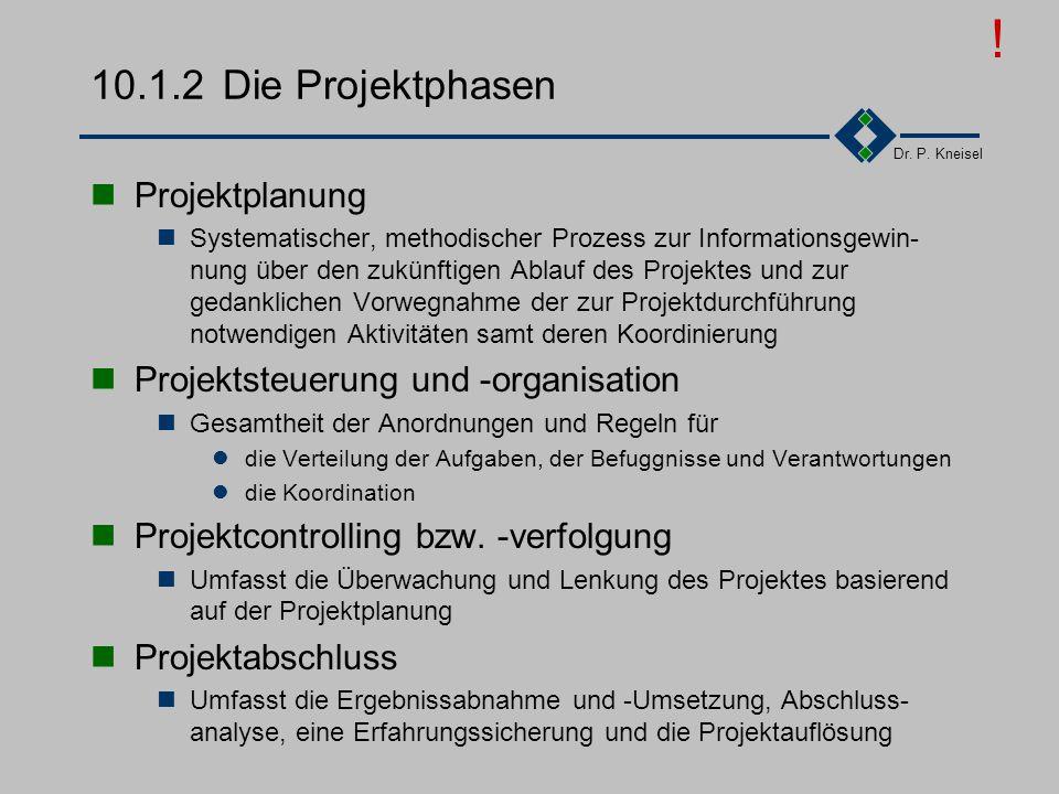 ! 10.1.2 Die Projektphasen Projektplanung