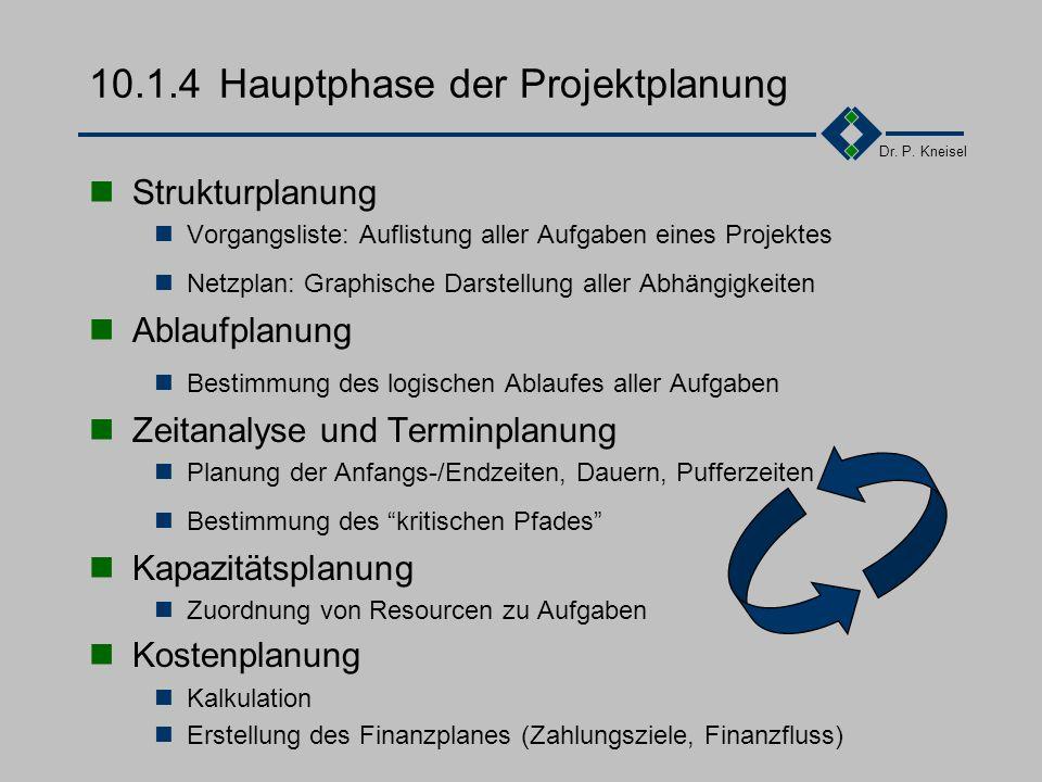 10.1.4 Hauptphase der Projektplanung