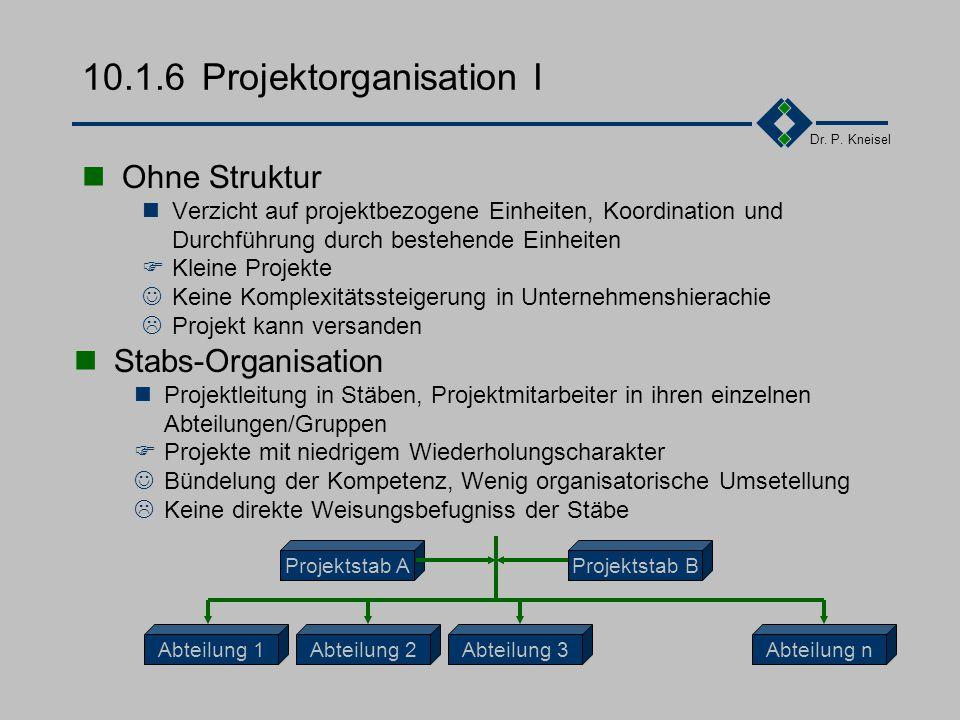 10.1.6 Projektorganisation I